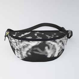 Twinkle Lights - Holiday Lights in Black and White Fanny Pack
