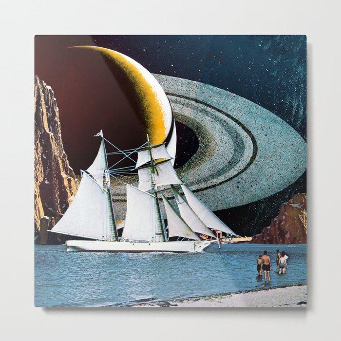 Orbital Sailing Metal Print