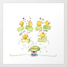 Baby family tree Art Print