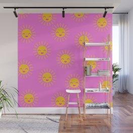 Little Sunshine (pink) Wall Mural