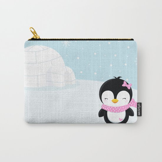 Cute penguin girl  Carry-All Pouch
