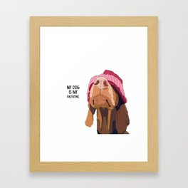 Vizsla Valentine Framed Art Print