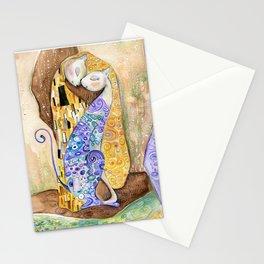 Cat. Inspired By Gustav Klimt Stationery Cards