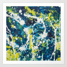 Color Commentary #21: O Negative (Cadaver Blue & Putrid Yellow) [Byron Rempel] Art Print