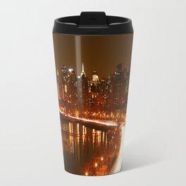New York City Night Skyline. Travel Mug