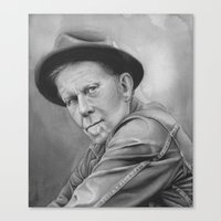 tom waits Canvas Prints featuring tom waits by dollface87