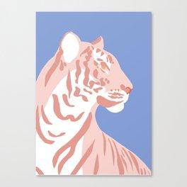 Tiger - Pink Canvas Print