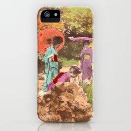 Geisha in the garden iPhone Case