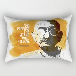 Purpose and Means Rectangular Pillow
