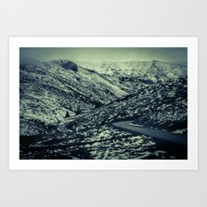 partial snow Art Print