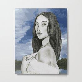 Portrait Bella Hadid Metal Print