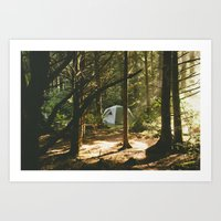 camping Art Prints featuring Camping by Jesse Morrow