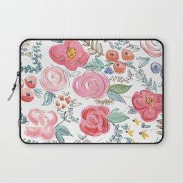 Watercolor Floral Print Laptop Sleeve