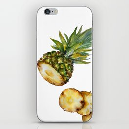 Flying pineapple - watercolor art iPhone Skin