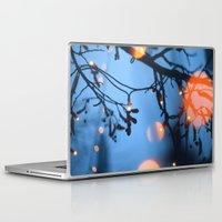 fireflies Laptop & iPad Skins featuring Fireflies by Den Brooks