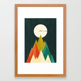 Life is a travel Framed Art Print