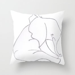 Tipica Elephant Family Throw Pillow