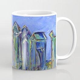 Blue Philadelphia Skyline Coffee Mug