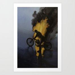 Hombre de Fuego In memory of George Brough George Cohen and Bert LeVac Art Print