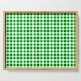 Gingham Green and White Pattern Serving Tray
