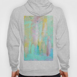 Mint Colorful Abstract Painting Hoody
