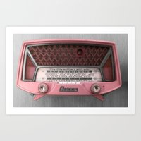 radio Art Prints featuring Vintage radio by 2sweet4words Designs