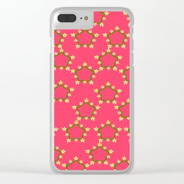 textile pattern 4 Clear iPhone Case