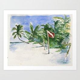 Beach, Tulum, Mexico Art Print