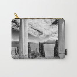 Roman Ruins, Garda, Sirmione, Italy landscape coastal black and white photograph / art photography  Carry-All Pouch