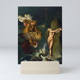 """Jean-Auguste-Dominique Ingres """"Angelica saved by Ruggiero or Ruggiero Freeing Angelica"""" Mini Art Print"""