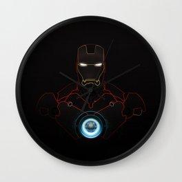 Ironman The Power Of Arc Reactor Wall Clock