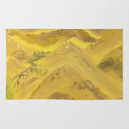 Wonderful desert mountains Rug