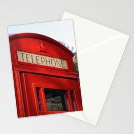 London Telephone Box, British phone booth, UK telephone kiosk Stationery Cards