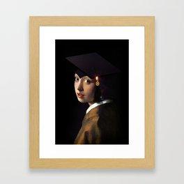 Girl with the Grad Cap Framed Art Print