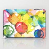 balloons iPad Cases featuring balloons by Katja Main
