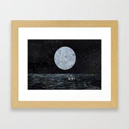 Moon and Sea Framed Art Print
