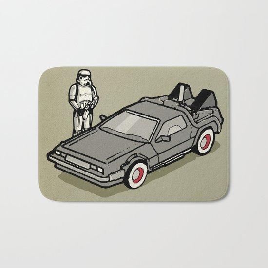 Stormtrooper and his Delorean Bath Mat