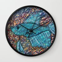 finn Wall Clocks featuring Finn by fawnadine