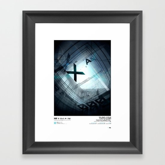 Typoera Framed Art Print