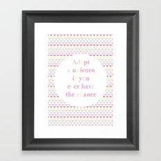 Adopt a Unicorn Framed Art Print