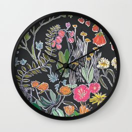 Summer Garden at Midnight Wall Clock