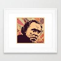 bukowski Framed Art Prints featuring Bukowski by f_e_l_i_x_x
