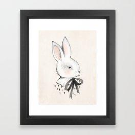BUNNY & BOW Framed Art Print