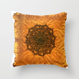 Henna Mandala  Throw Pillow