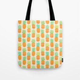 Watercolor Pineapples Tote Bag