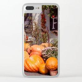 The pumpkin Clear iPhone Case