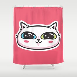 Starry Eyed Cat Shower Curtain