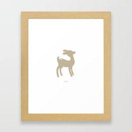 woodland friends- deer Framed Art Print