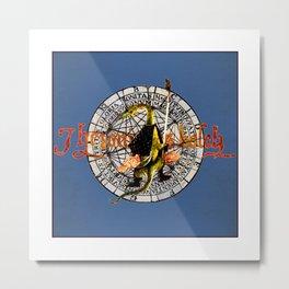 Bosch Soldier Lizard Metal Print