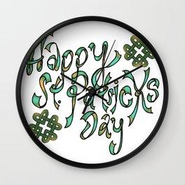 Happy St Patricks Day Wall Clock